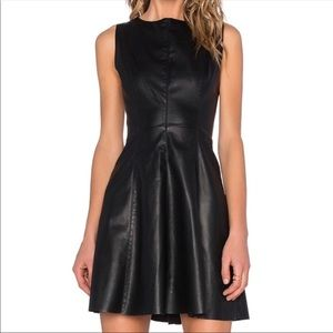 BB Dakota April Black Vegan Leather Dress | Size 4